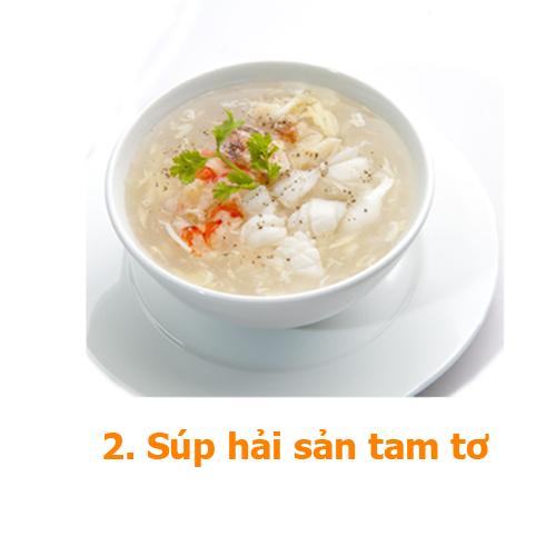súp hải sản tam tơ