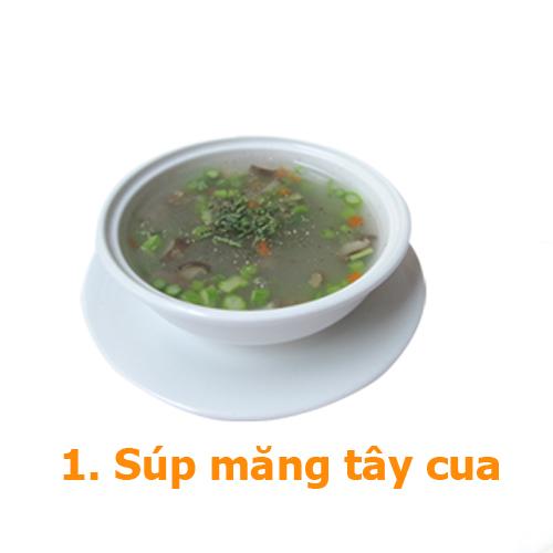 súp tây măng cua