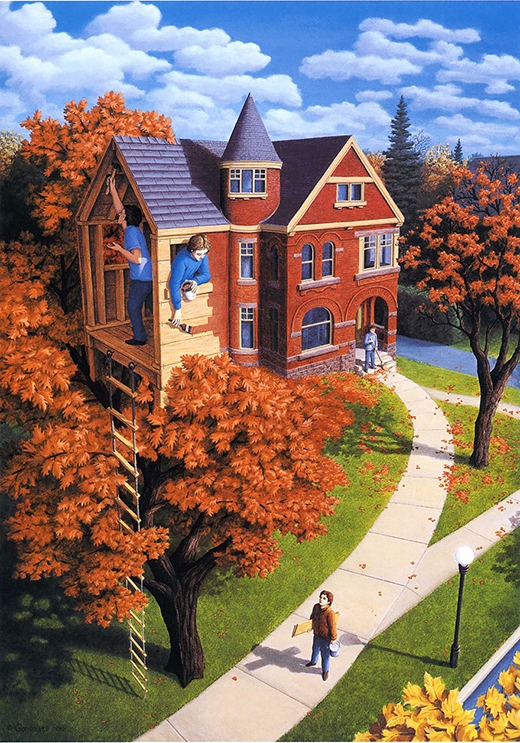 nhà và cây