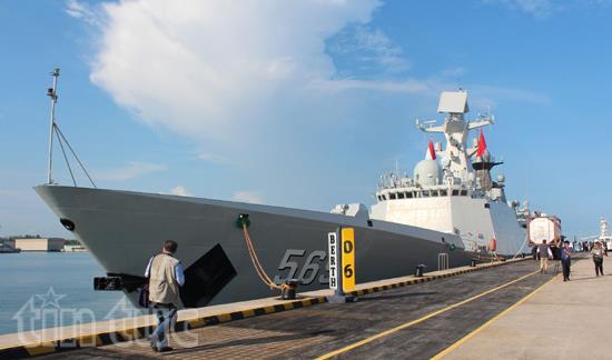 Tàu khu trục nhỏ CNS 569 Yulin, 4.000 tấn thuộc Type 54A Jiangkai II, của Hải quân Trung Quốc lần đầu tiên tham gia IMDEX kể từ năm 2007 - Thực phẩm An Tâm
