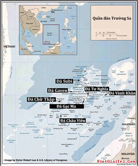 Vị trí các đảo Trung Quốc bồi đắp ở Trường Sa - Thực  phẩm An Tâm