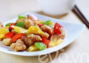 Trưng bày món mực viên xào chua ngọt - Thực phẩm An Tâm
